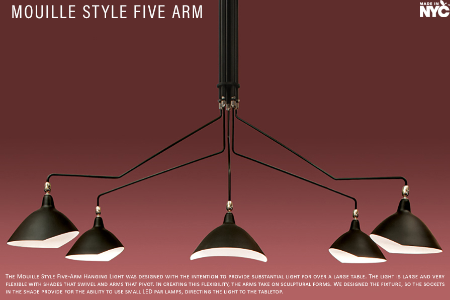 Mouille Style Five Arm