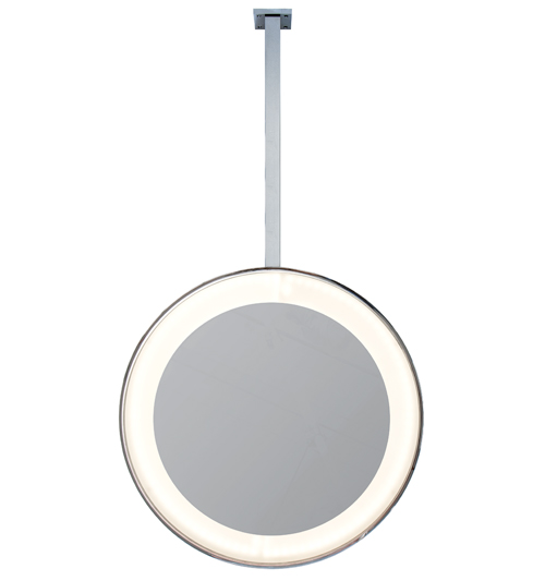 Ceiling-Mounted Round LED Mirror