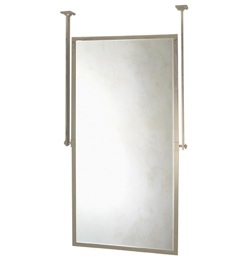 Wall mount mirror pivots