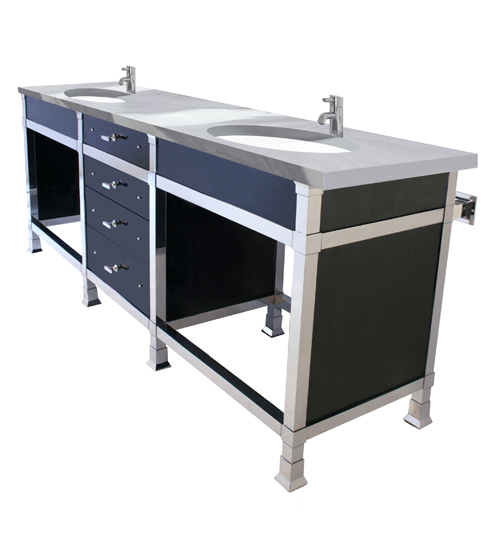 Metropolitan Washstand Base with Drawers & Panels