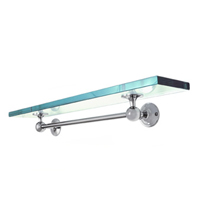 Yale Club Glass Shelf with Towel Bar