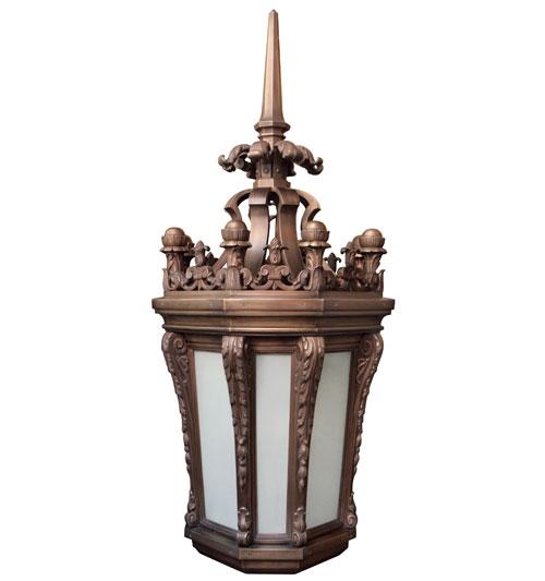 Simplistic Victorian Entrance Pillar Light: Large Plinth Light UA0314 EL