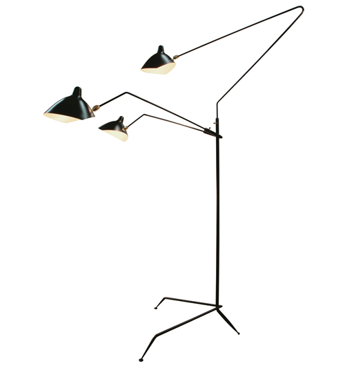 Three-Arm Mouille Style Floor Lamp