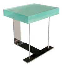 Chareau-Style End Table [Glass Top]