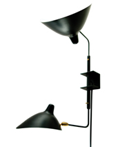 Mouille Style Two Arm Plug-in Sconce