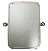 Galley Pivoting Mirror with Hex Brackets