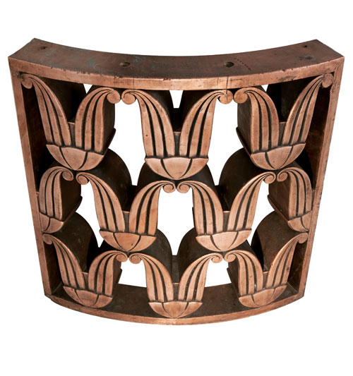 Art Deco Copper Railing [Curved Section]