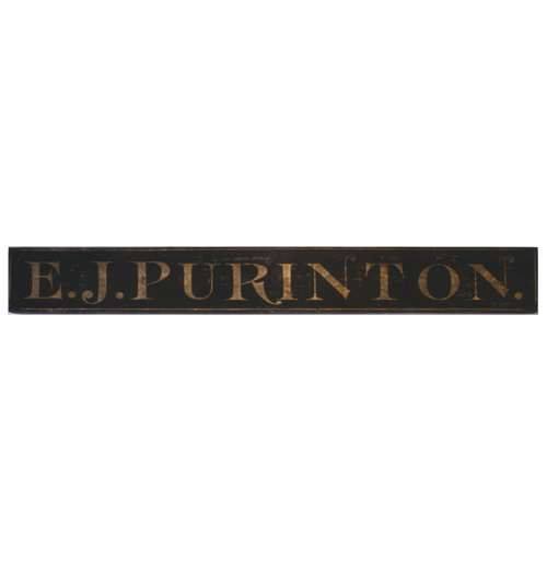 """E. J. Purinton"" Sign"