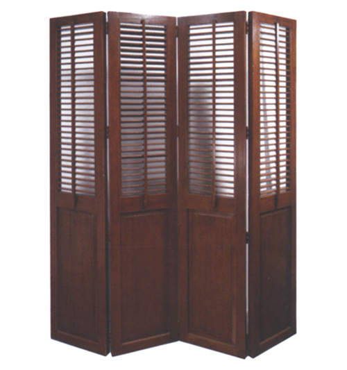 Mahogany Standing Screen
