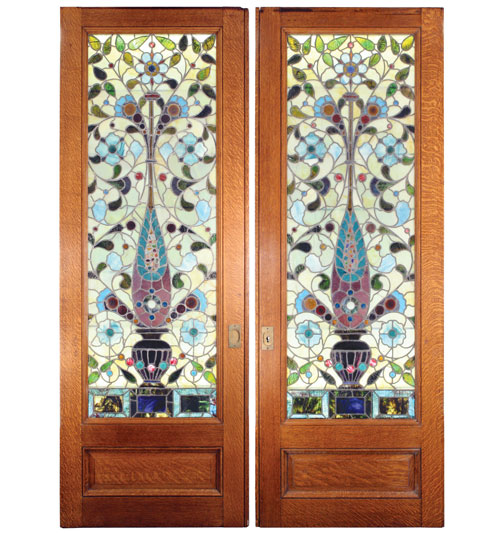 Stained Glass in Interior Stained Glass Pocket Doors