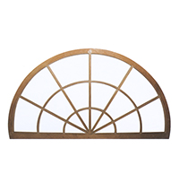 Arched Pine Transom