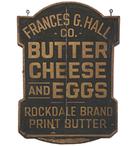 Butter, Cheese, and Eggs Sign