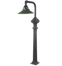 Iron Light with Green Enamel Shade