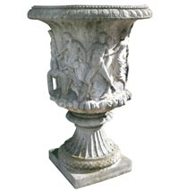 Poured Stone Urns