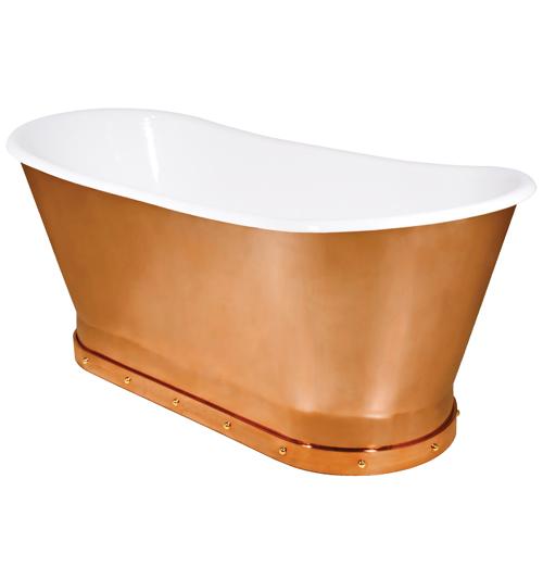 Urban Archaeology Mercer Bathtub Solid Copper Skirt