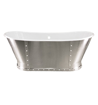 Mercer Bathtub with Front Rivets