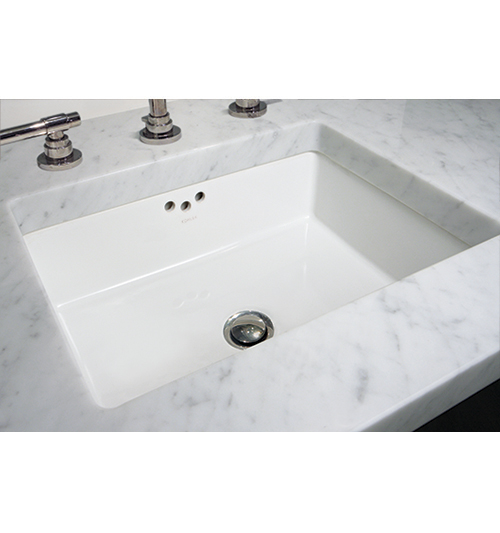 Rectangle Basin [Three Hole Overflow]